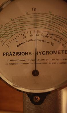 Die Amatur eines Hygrometers zur Holzüberwachung